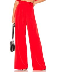MILLY Red Natalie Pant