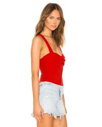 superdown Red Ivanna Cross Back Top