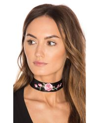 Child Of Wild Pink Wild Rose Leather Choker
