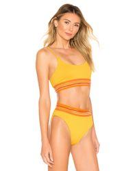 Beach Riot Yellow Anna Bikini Top