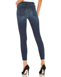 Mother High Waisted Looker Ankle Fray スキニーデニム. Size 27. Blue