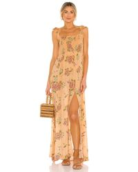 Agua Bendita Multicolor Leandra Blomma Maxi Dress