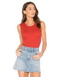 Lamade - Red Evie Muscle Bodysuit - Lyst
