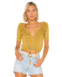Lovers + Friends Ivy トップ Yellow
