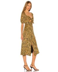 Song of Style Yellow Everly Midi Dress