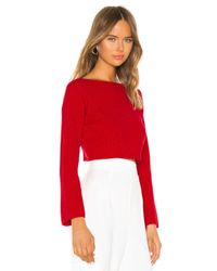 superdown Red Geraldine Ribbed Sweater