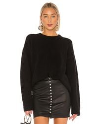T By Alexander Wang Black Teepee Pullover