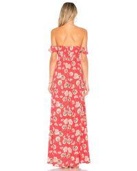 Flynn Skye Red Bardot Maxi Dress