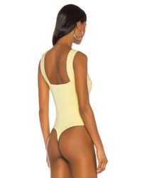 h:ours Yellow Halsey Bodysuit