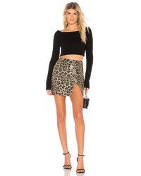 superdown Brown Travie Sequin Mini Skirt