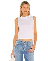 Enza Costa Drape Tシャツ White