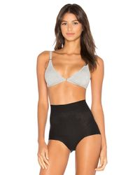 Free People | Gray Stop Me Soft Bra | Lyst