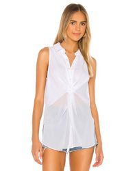 BCBGeneration White Knot Front Top