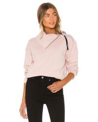 AllSaints Pink Bella Zip Front Sweat