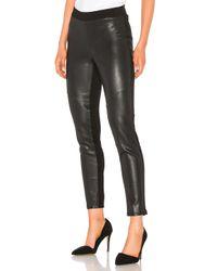 Bobi Black Vegan Leather Legging