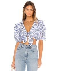 Lovers + Friends Blue Sullie Top