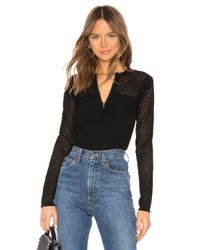 Bailey 44 Black Mesh Together Top