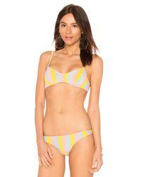 Top Bikini The Rachel Solid & Striped de color Pink