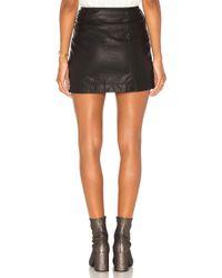 Free People - Black Feelin Fresh Vegan Mini Skirt - Lyst