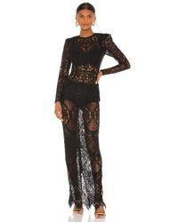 Bronx and Banco Black Allegra Maxi Dress
