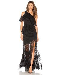 Vestido Largo Chrissy AMUR de color Black