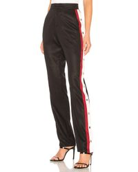 Lovers + Friends Black Tailored Snap Track Pant