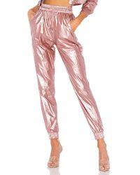 superdown Pink Amalie Windbreaker Pant