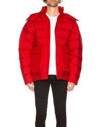 Y-3 Puffy Down Jacket in Red für Herren