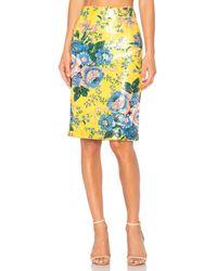 Diane von Furstenberg Yellow Tailored Pencil Skirt