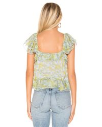 The East Order Blue Daphne Top