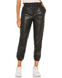 n:PHILANTHROPY Black X Revolve Rou Vegan Leather Pant