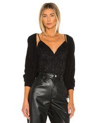 L'Agence Laurette ボディスーツ Black