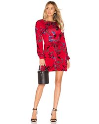 Robe Courte À Longues Manches Siri House of Harlow 1960 en coloris Red