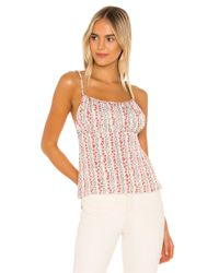 Free People White Donna Printed Cami