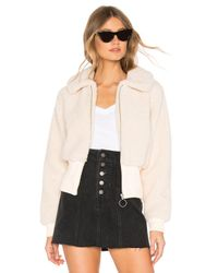 Lovers + Friends Natural Coco Zip Up Jacket