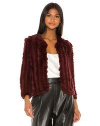 Heartloom Multicolor Rosa Fur Jacket