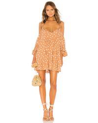 Tularosa Orange Hattie Dress