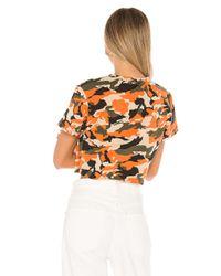 superdown Orange Elizabeth Crop Top