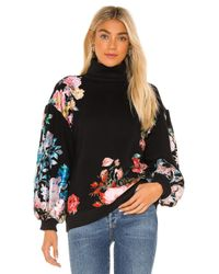 Hemant & Nandita Black Fleur Sweatshirt