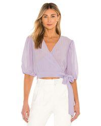 Bardot Purple Isabella Wrap Top