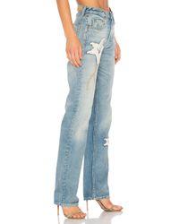 GRLFRND - Blue X Revolve Helena High-rise Straight Crop Jean - Lyst