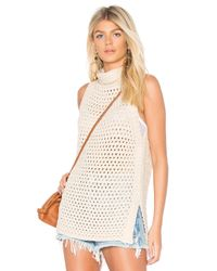Free People White Northern Lights Vest