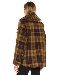 Smythe Brown Faux Fur Barn Jacket