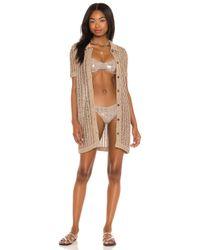 Solid & Striped Cabana ミニドレス Brown