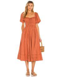Ulla Johnson Orange Palma Dress