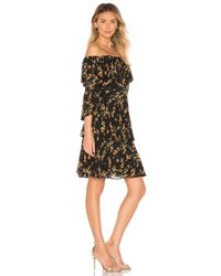 Bardot Ditsy Pleat ドレス Black