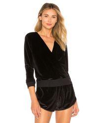 Maaji - Black Velour Layer Pullover - Lyst