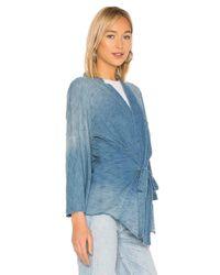 NSF Blue Kruze Kimono With Arm Hole Cutout
