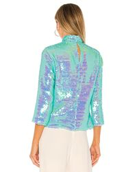 MILLY Multicolor Sequin Turtleneck