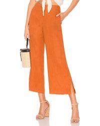Pantalon Carmen Faithfull The Brand en coloris Orange